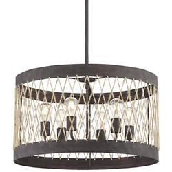 Anders 6 Light Forged Bronze Chandelier