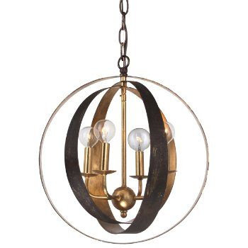 Shown in Small Size, English Bronze and Gold finish