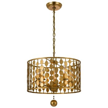 Shown in Antique Gold finish, Small size
