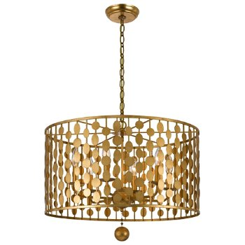Shown in Antique Gold finish, Large size