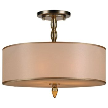 Shown in Antique Brass finish, Amber resin shade