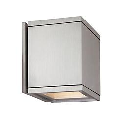 Cube Wall Light (Solid Insert/Solid Insert)-OPEN BOX RETURN