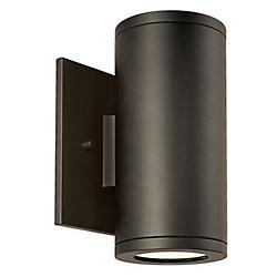 Silo Dual Wall Light (Aluminum/Bronze) - OPEN BOX RETURN