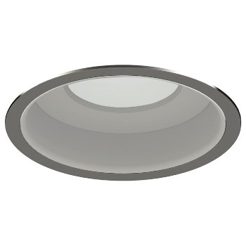Shown in Brushed Nickel Trim finish with Matte White Reflector