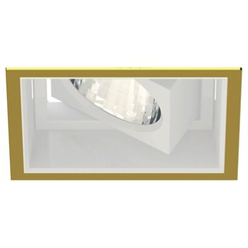Shown in  Gold Plated 24K Trim finish with Matte White Reflector Finish