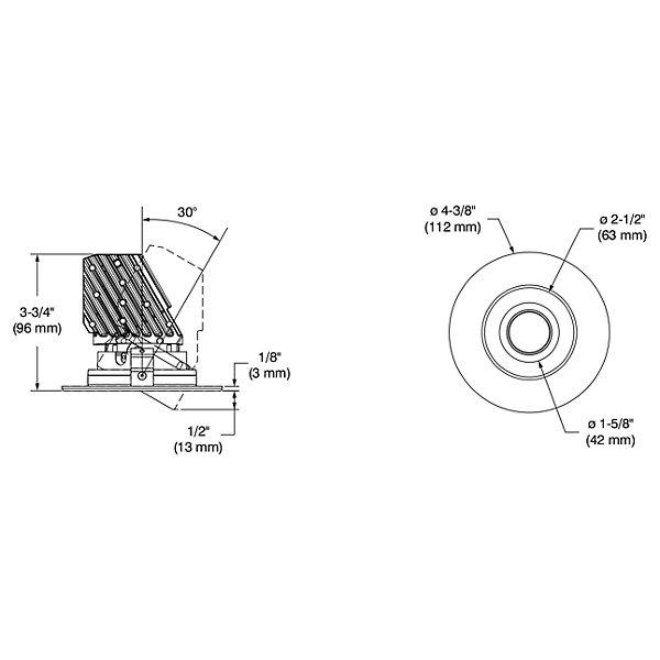 Urbai 3.5-Inch Round Adjustable Trim
