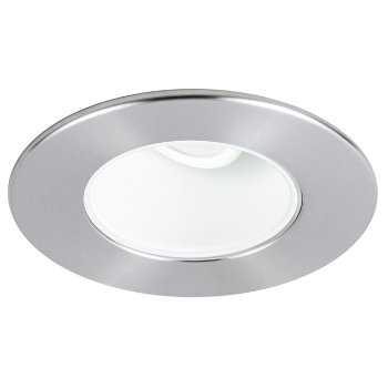 Shown in Brushed Chrome finish, Clear glass