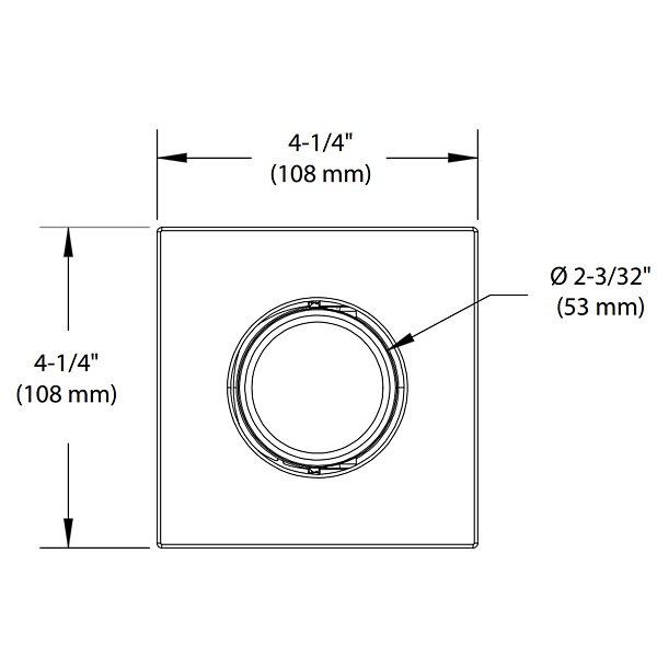 Concerto 3 1/2 inch LED Adjustable Square Trim