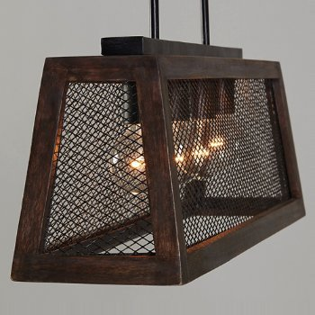Shown in Zinc and Wood finish, lit