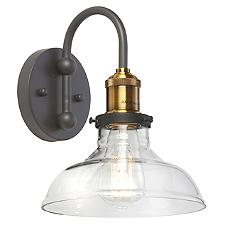 1 Light Clear Shade Wall Sconce