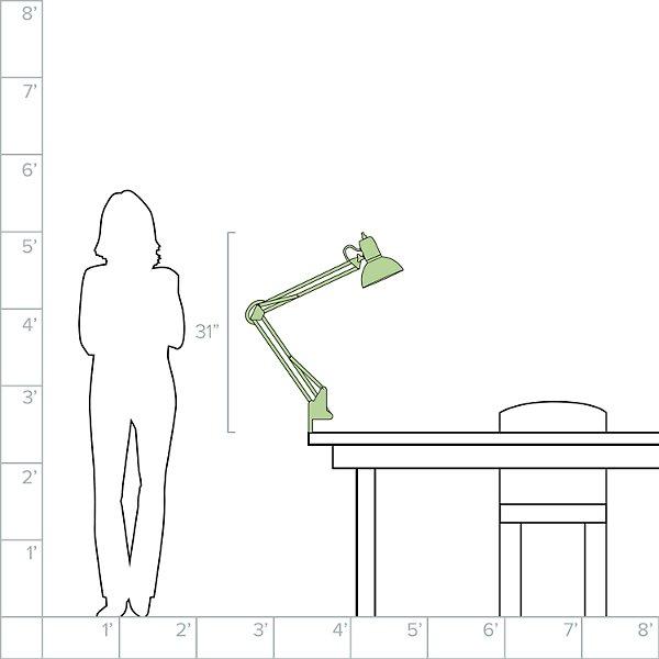 1 Light  Clamp-On Task Lamp