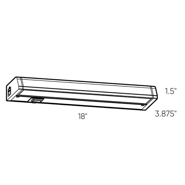 LED Color Temperature Changing Linear Under Cabinet Light