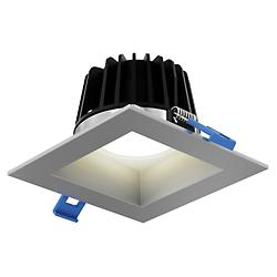 Square Smooth LED Baffle Trim (Satin Nickel /4 In)-OPEN BOX