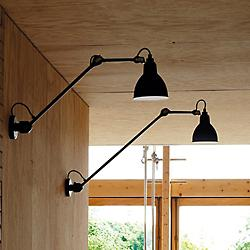 Lampe Gras 304 Long Arm Hardwired Wall Sconce