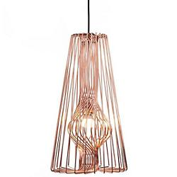 Wire Pendant Light by Decode (Copper) - OPEN BOX RETURN