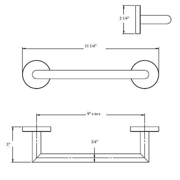 Simpliciti Small Towel Bar