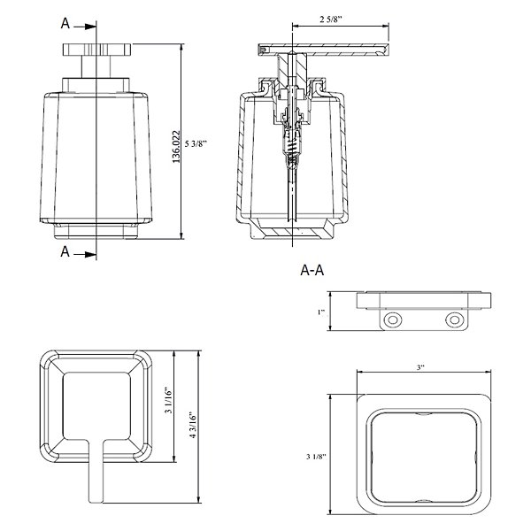 Harmoni Soap Dispenser with Wall Mount