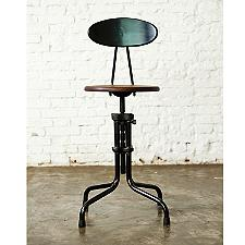 L'Usine Low Stool with Back