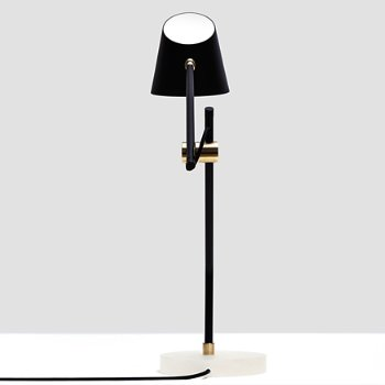 Shown in Polished Brass finish, Black color
