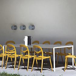 Mirage Dining Table (Steel/Aluminum) - OPEN BOX RETURN