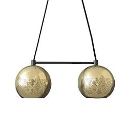 Nur Reversed Chandelier Dual Globe