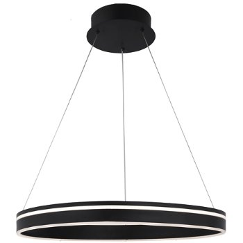 Shown in Black finish, 1 Light