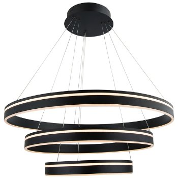 Shown in Black finish, 3 Light