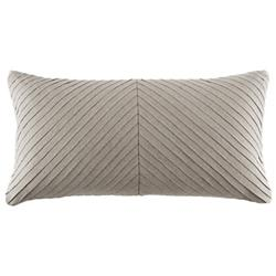 Pleated Linen Oblong Pillow
