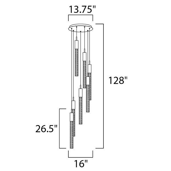 Alora LED Multi Light Pendant