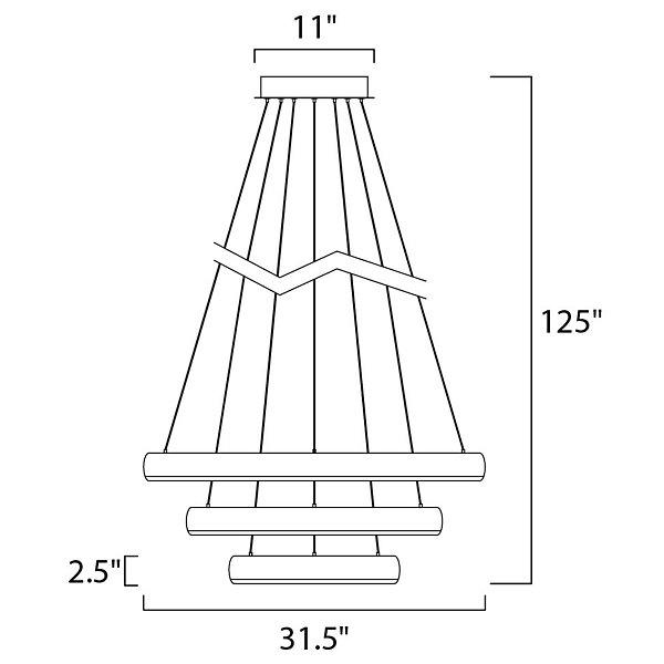 Imelda 3 Ring LED Pendant