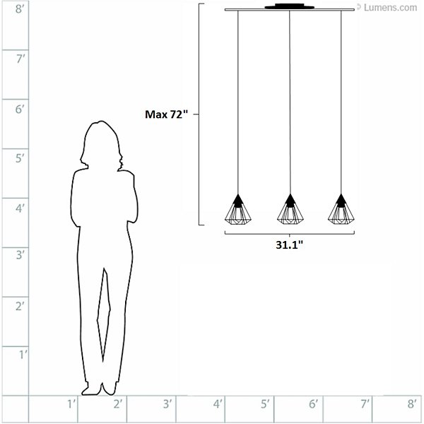 Tarbes Linear Multi Light Pendant