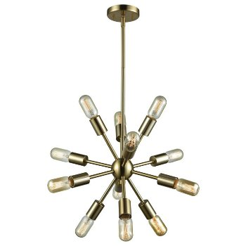 Shown in Satin Brass finish, Small size