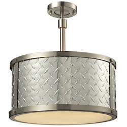 Diamond Plate Drum Pendant