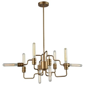 Shown in Matte Gold finish, 8 Light