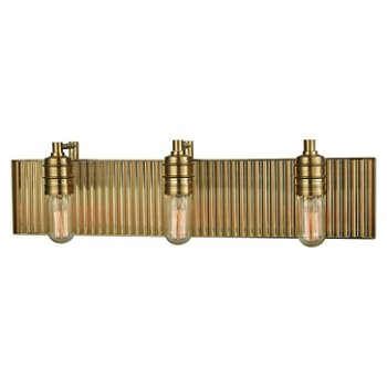 Corrugated Satin Brass Bath Bar