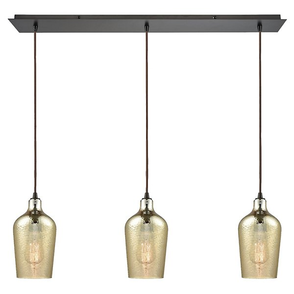 Hammered Glass Linear Suspension
