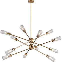 Xenia Seedy Glass 12 Light Chandelier
