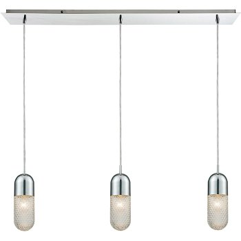 Shown in Polished Chrome finish with 3 Lights, lit