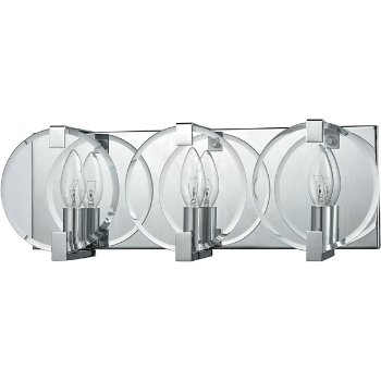 Shown in Polished Chrome finish with 3 Lights, unlit