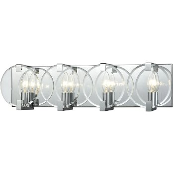 Shown in Polished Chrome finish with 4 Lights, lit