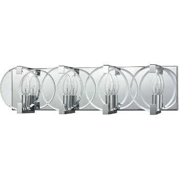Shown in Polished Chrome finish with 4 Lights, unlit