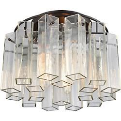 Cubic Glass Semi-Flushmount