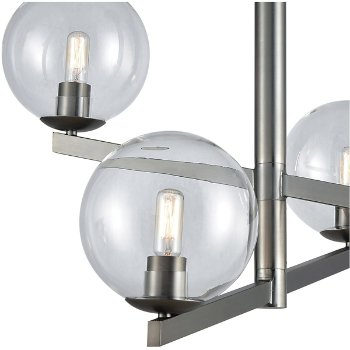 Shown in Brushed Black Nickel finish with 4 Light, lit