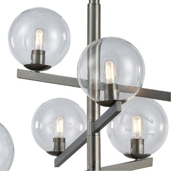Shown in Brushed Black Nickel finish with 6 Light, lit