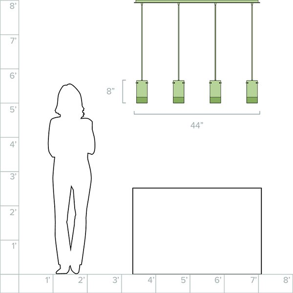 Tallula Linear Multi-Light Pendant