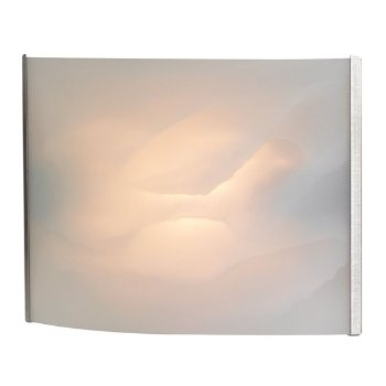 Shown in Stainless Steel with White Alabaster Glass finish