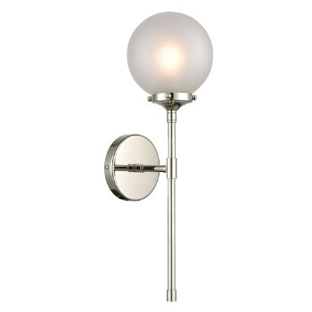 Shown in Polished Nickel with Frosted Glass