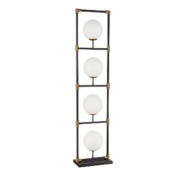Shown in Matte Black and Aged Brass, White finish, unlit