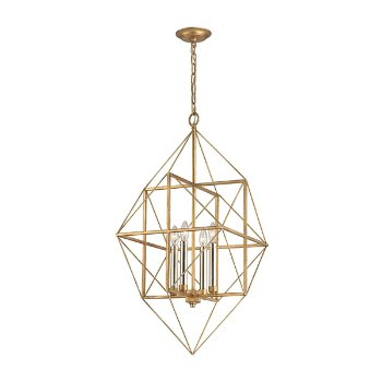 Shown in Antique Gold Leaf and Silver Leaf finish, Medium size