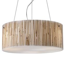Modern Organics Drum Pendant (Bamboo Stems)-OPEN BOX RETURN